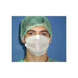 Masque Chirurgical Blanc de 3 plis avec élastiques (50 Utés)