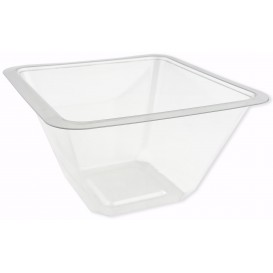 Bol en Plastique PET Thermo-Scellable 375ml 120x120x70mm (50 Utés)