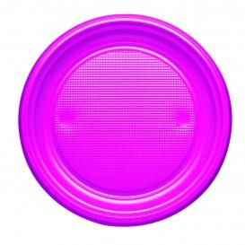 Assiette Plastique PS Plate Fuchsia Ø170mm (1100 Unités)