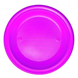 Assiette Plastique PS Creuse Fuchsia Ø220mm (30 Unités)