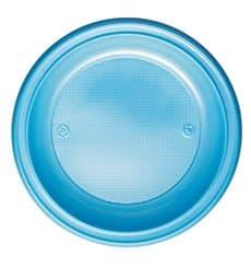 Assiette Plastique PS Creuse Bleu Clair Ø220mm (30 Unités)