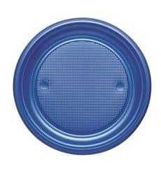 Assiette Plastique PS Plate Bleu Foncé Ø170mm (1100 Unités)