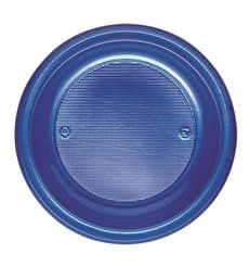 Assiette Plastique PS Creuse Bleu Foncé Ø220mm (30 Unités)