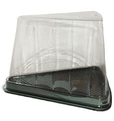 Boîte Portion Tarte Transp. 12,4x8,75x8,2cm (50 Utés)