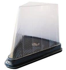 Boîte Portion Tarte Transp. 12,4x8,75x8,2cm (300 Utés)
