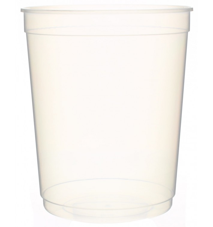 Pot en Plastique Transparent 1000ml Ø11,5cm (250Utés)