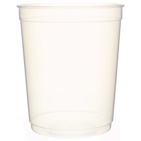 Pot en Plastique Transparent 1000ml  Ø11,5cm (50 Utés)