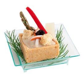 Saucières Dégustation Salsa Vert Transp. 6,5x6,5x1,5cm (30 Utés)
