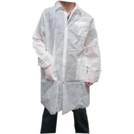 Blouse PP Blanc Velcro et Avec Poches XL (100 Utés)