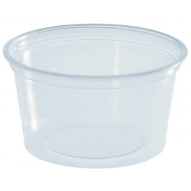 Pot à Sauce Plastique PS Trans. 80ml Ø7cm (100 Utés)
