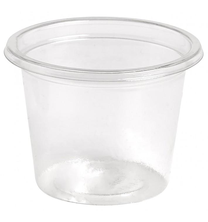Pot à Sauce Plastique rPET Cristal 30ml Ø4,5cm (4000 Utés)