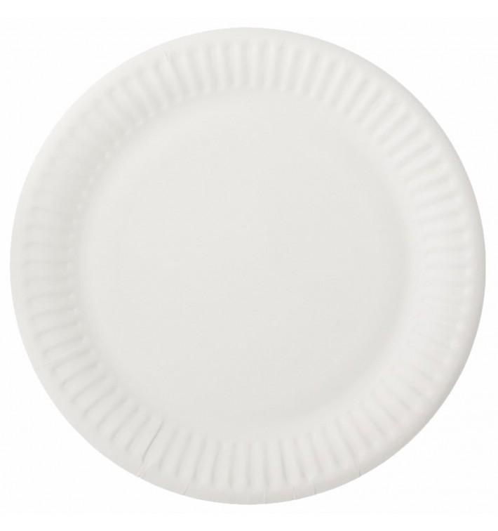 Assiette en Papier Blanc Ø15cm (100 Unités)