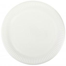 Assiette en Papier Blanc Ø23cm (50 Unités)
