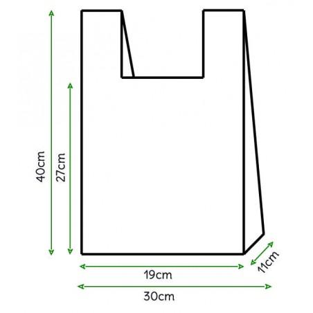 Sac à Bretelles 30x40cm Blanc (6000 Unités)