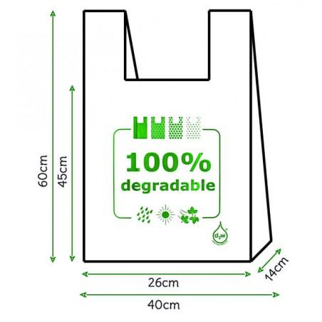 Sac à Bretelles 100% Dégradable 40x60cm (3000 Utés)