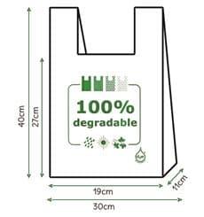 Sac à Bretelles 100% Dégradable 30x40cm (200 Unités)