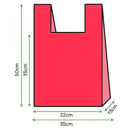Sac à Bretelles 35x50cm Rouge (5000 Unités)