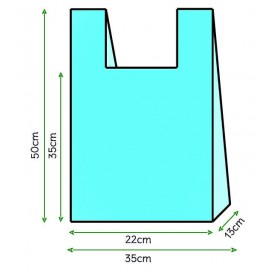 Sac à Bretelles 35x50cm Bleu (5000 Unités)