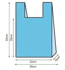 Sac à Bretelles 35x50cm Bleu (1000 Unités)