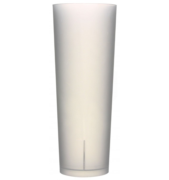 Gobelet Tube Réutilisable PP Translucide 330ml (10 Utés)