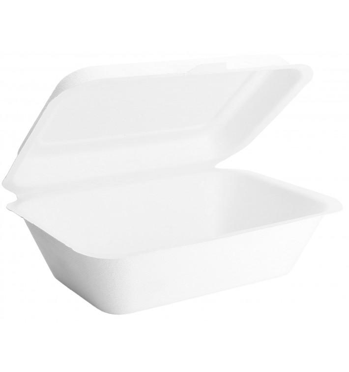 Boîte en Canne à Sucre Blanc 18x12,5x7cm (50 Unités)