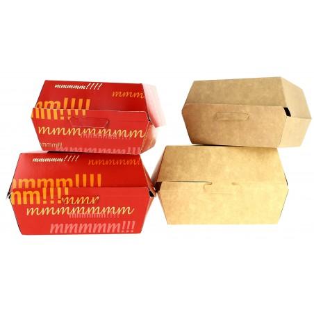 Boîte à Hamburger XXL Kraft 14,5x14,5x8 cm (400 Utés)