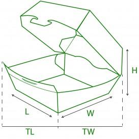 Boîte à Hamburger Carton  XXL 14,5x14,5x8 cm (25 Utés)