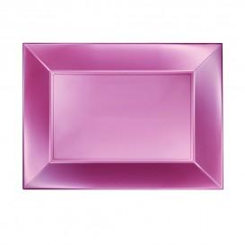 Plateau Plastique Rose Nice Pearl PP 280x190mm (240 Utés)