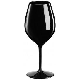 Flûte Réutilisable pour Vin Tritan Noir 510ml (6 Unités)