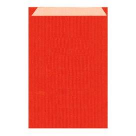 Sac Papier Kraft Rouge 26+9x38cm (125 Unités)