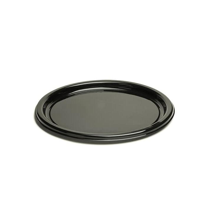 Assiette en Plastique Rigide Noire 18cm (250 Unités)