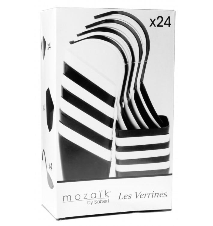 Kit pour Dégustation Blanc et Noir 24 pièces (1 Kit)