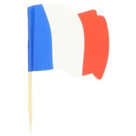 """Pique en Bois Drapeau """"France"""" 65mm (14.400 Unités)"""