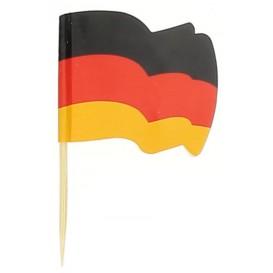 """Pique en Bois Drapeau """"Allemagne"""" 65mm (14.400 Unités)"""