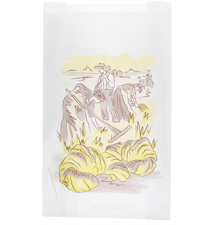 """Sac Papier Blanc """"Siega"""" 22+7x36cm (1000 Unités)"""