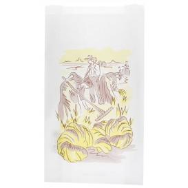"""Sac Papier Blanc """"Siega"""" 12+6x20cm (250 Unités)"""