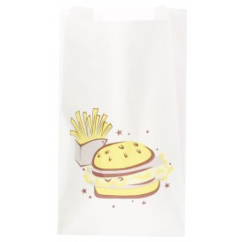 "Sachet Hamburger ""Saky Food"" 14+7x24cm (250 Utés)"