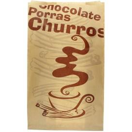 """Sachet à Churros """"Chocolat"""" Kraft 18+7x32 cm (1000 Utés)"""