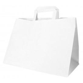 Sac Papier Blanc avec Anses Plates 70g 32+20x23cm (250 Utés)