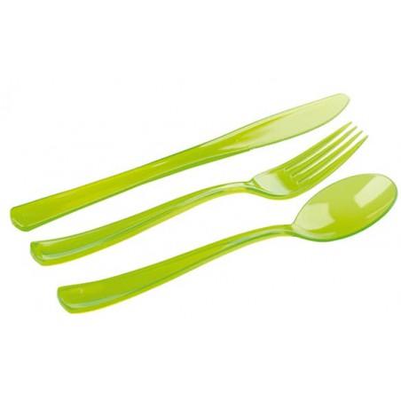 Couverts Fourchette, Couteau, Cuillère Vert (18 Utés)