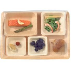 Assiette en Bois carrée 11,5x11,5x1,2cm (50 Unités)