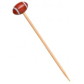Pique en Bambou Décoré Rugby 120mm (1000 Unités)