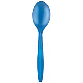 Cuillère Plastique PS Premium Bleu 190mm (50 Utés)
