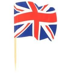 """Pique en Bois Drapeau """"UK"""" 65mm (14.400 Unités)"""