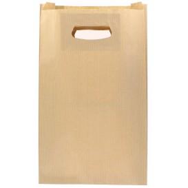 Sac en papier Kraft Anses Découpées 24+7x37cm (250 Utés)