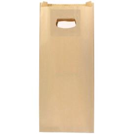 Sac en papier Kraft Anses Découpées 18+6x32cm (500 Utés)