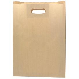 Sac en papier Kraft Anses Découpées 31+8x42cm (250 Utés)