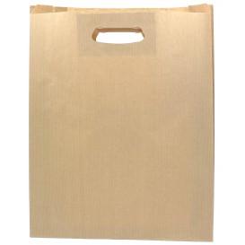 Sac en papier Kraft Anses Découpées 41+10x42cm (50 Utés)
