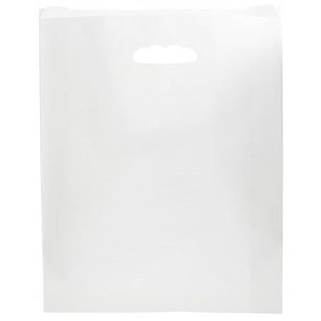 Sac en papier Blanc Anses Découpées 70g 41+10x42cm (250 Utés)