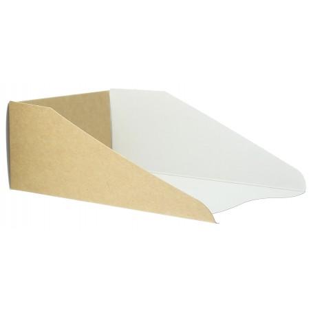 Emballage en Carton pour Gaufre 16x10cm (100 Unités)